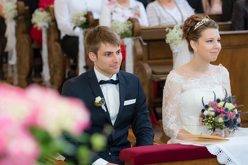 Hochzeitsfotos der kirchlichen Trauung