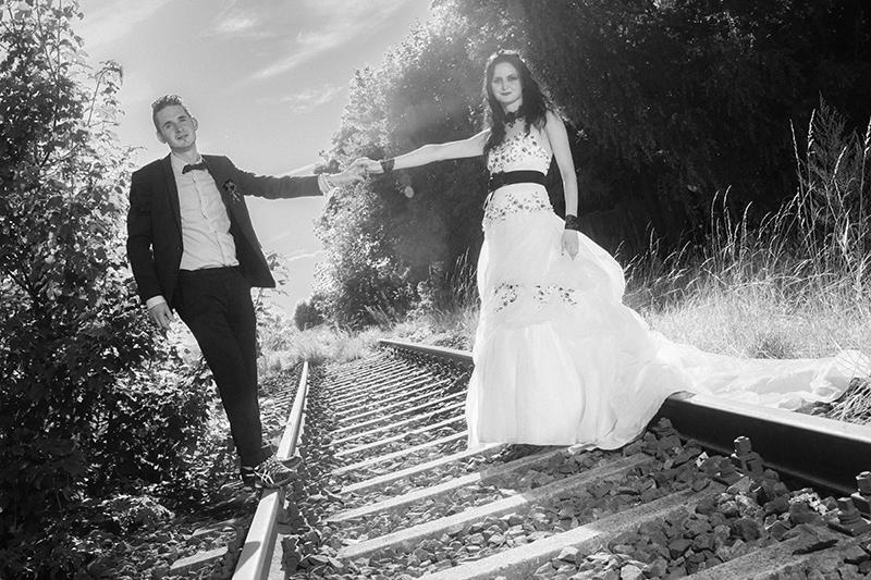 Hochzeitsbilder in schwarz-weiß