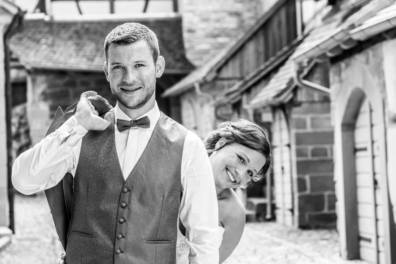Hochzeitsfotos in Schwarz-Weiß
