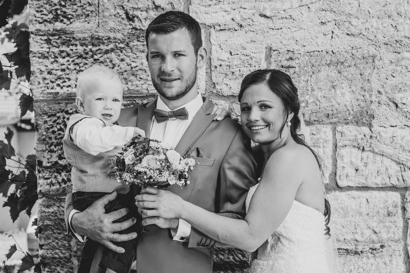 Hochzeitsfotos mit Kind
