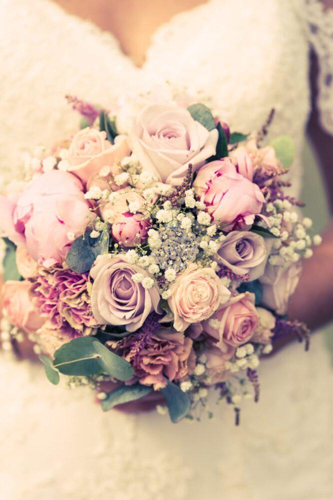 Vintage-Look eines Brautstraußes