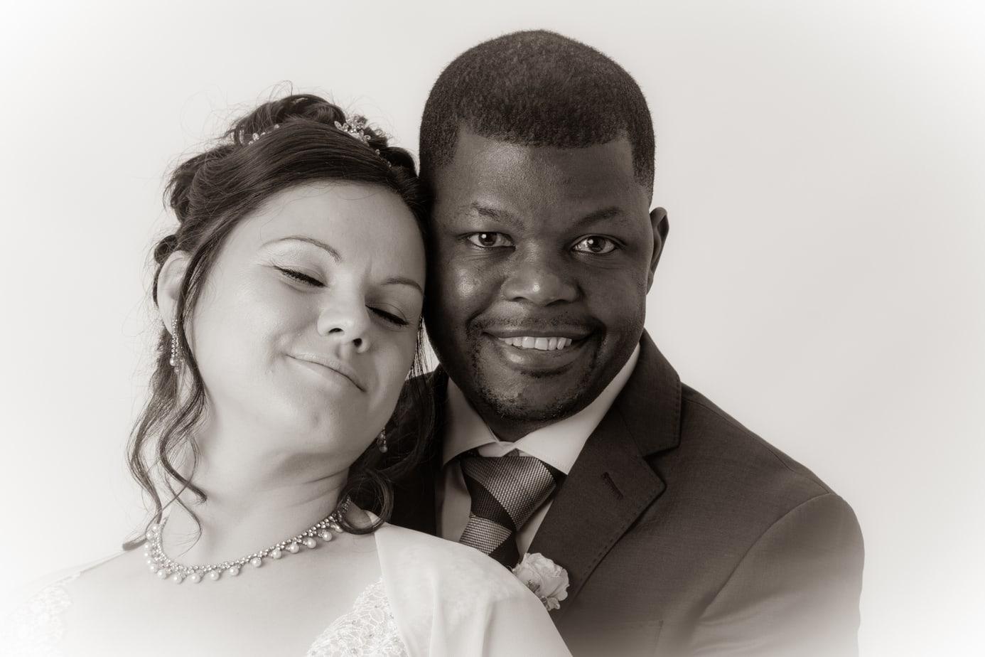 Traumhafte Hochzeitsfotos im Studio
