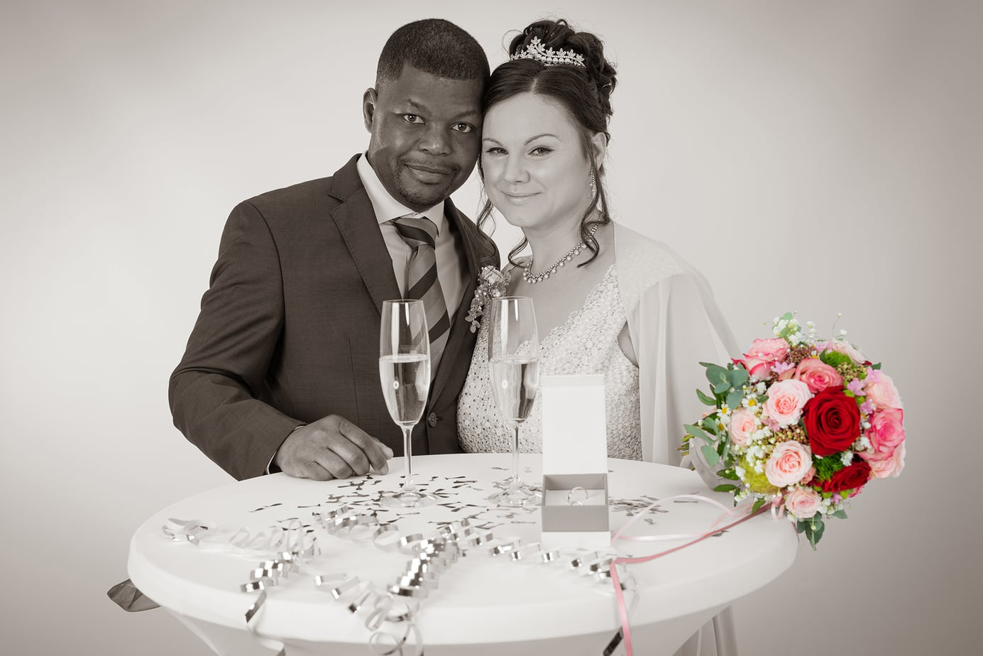 Studiofotografie zur Hochzeit