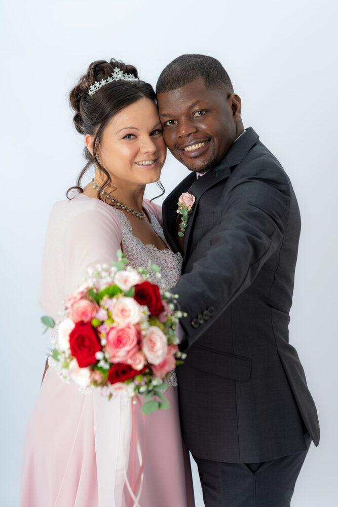 Studiofoto an der Hochzeit