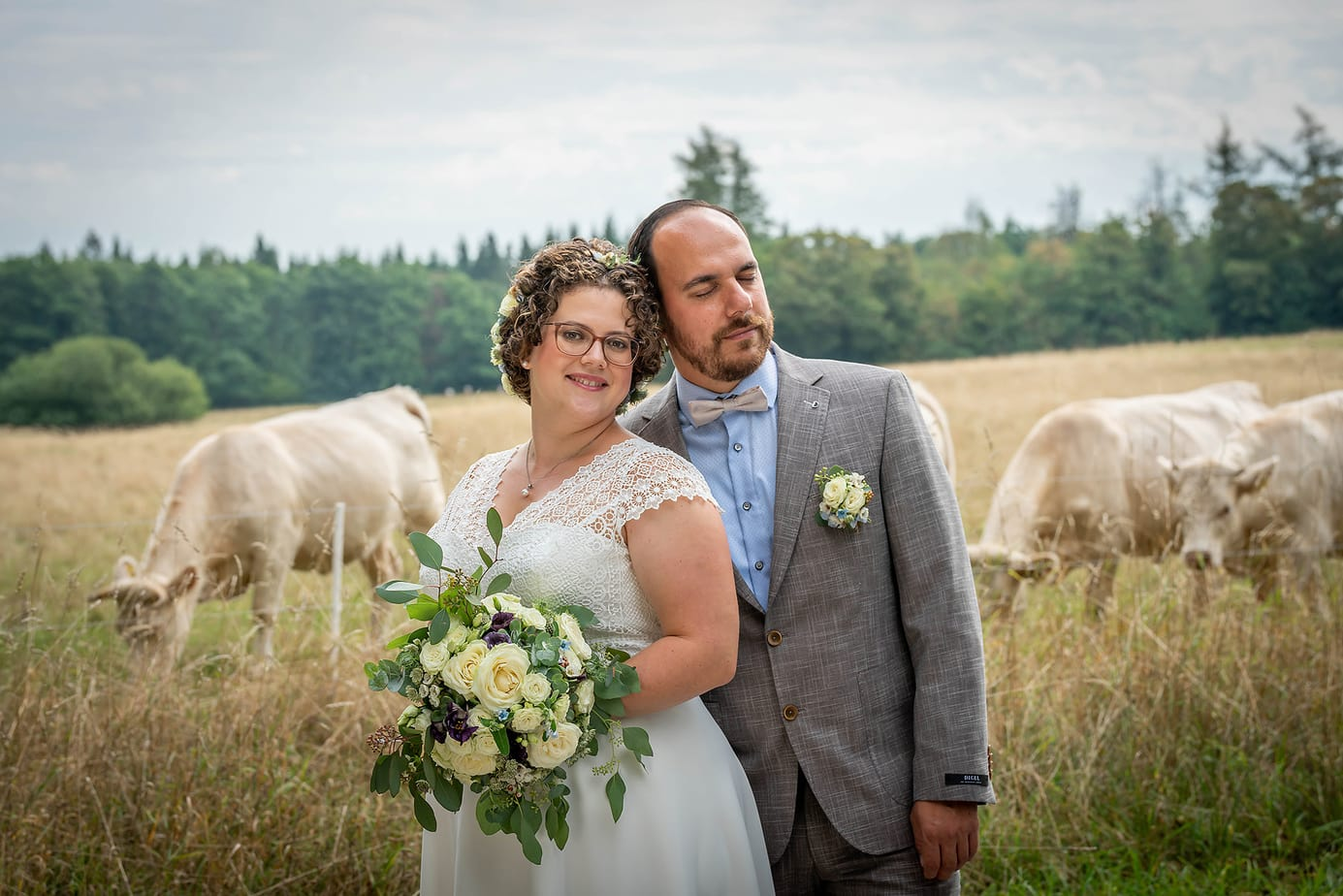 Hochzeitsbilder in der Natur