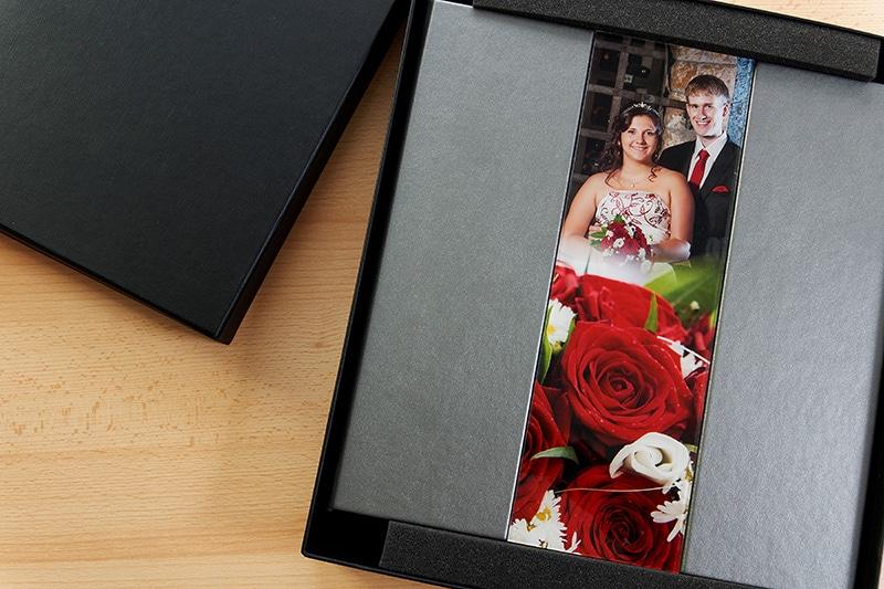 Hochzeitsalbum mit Fotoeinsatz aus Acryl