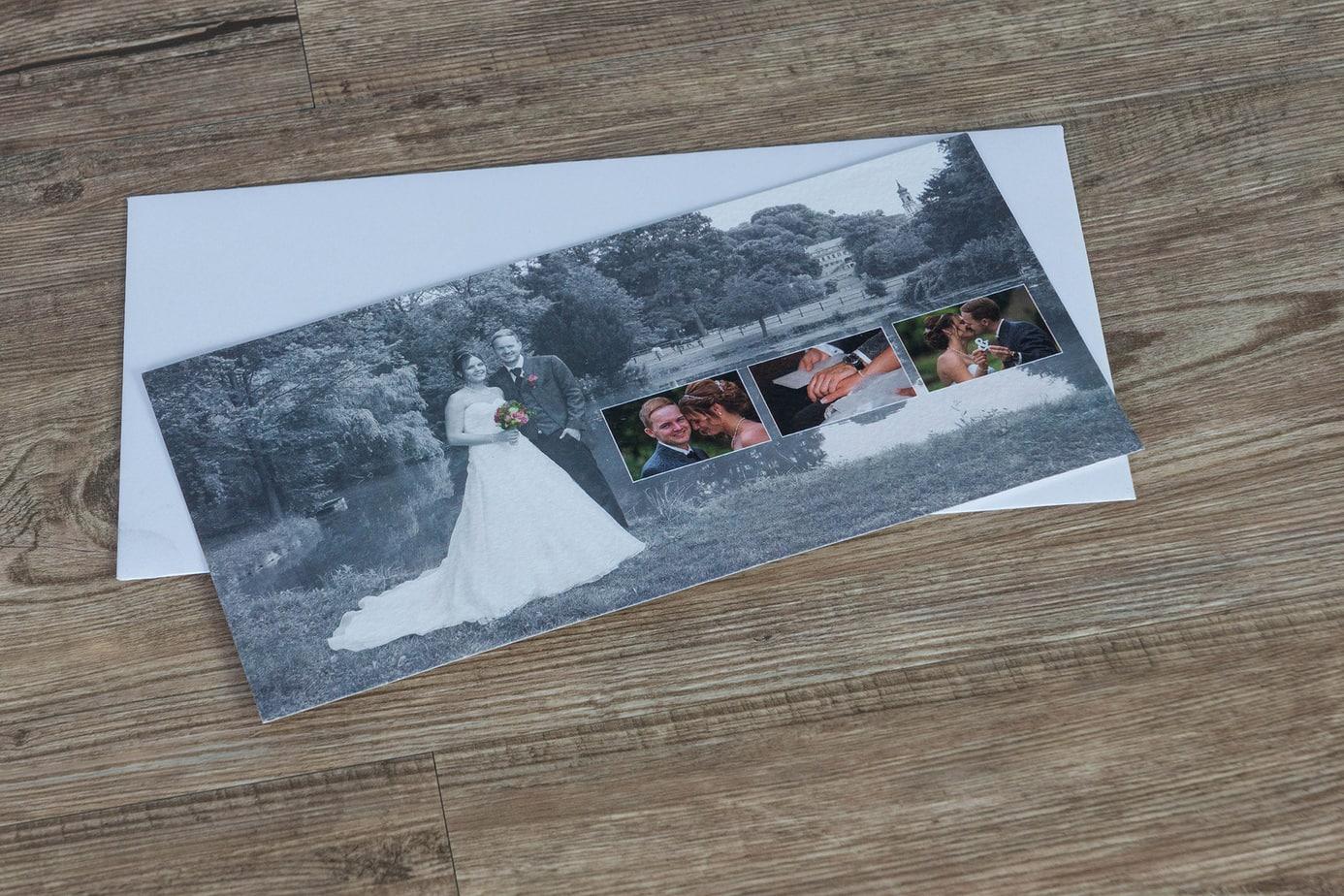 Danksagungskarte einseitig im Postkartenformat